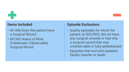 OASIS and Quality Measures: Improvement in the Status of Surgical Wounds