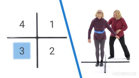 Four-Square Step Test