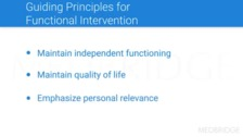 Principles of Intervention