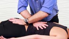 Prone Cross Handed Stretch