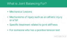 Joint Balancing Guidelines