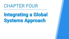 Integrating a Global Systems Approach
