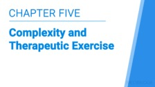 Complexity and Therapeutic Exercise