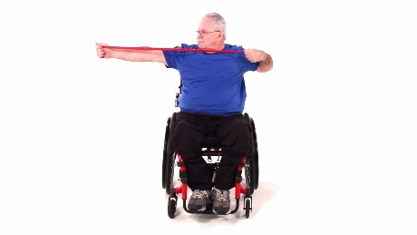 Seated Single Shoulder Retraction with Resistance
