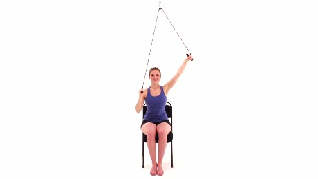 Seated Shoulder Abduction AAROM with Pulley Behind