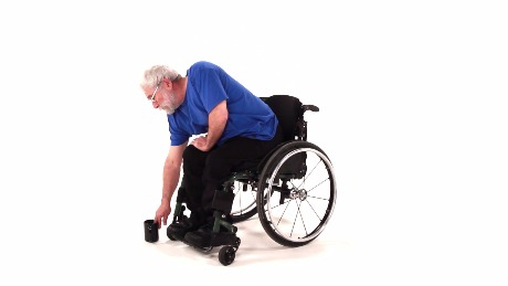 Seated Forward Reach Pick-Up with Leg Support