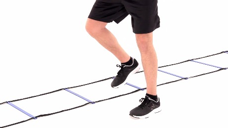 Forward Shuffle - Two Feet In, One Foot Out with Agility Ladder