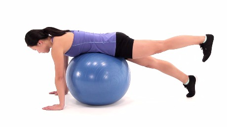 Prone Hip Extension on Swiss Ball