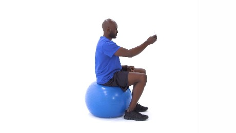 Sitting Swiss Ball Gaze Stabilization Head Rotation