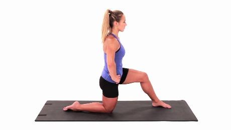Half Kneeling Hip Flexor Stretch