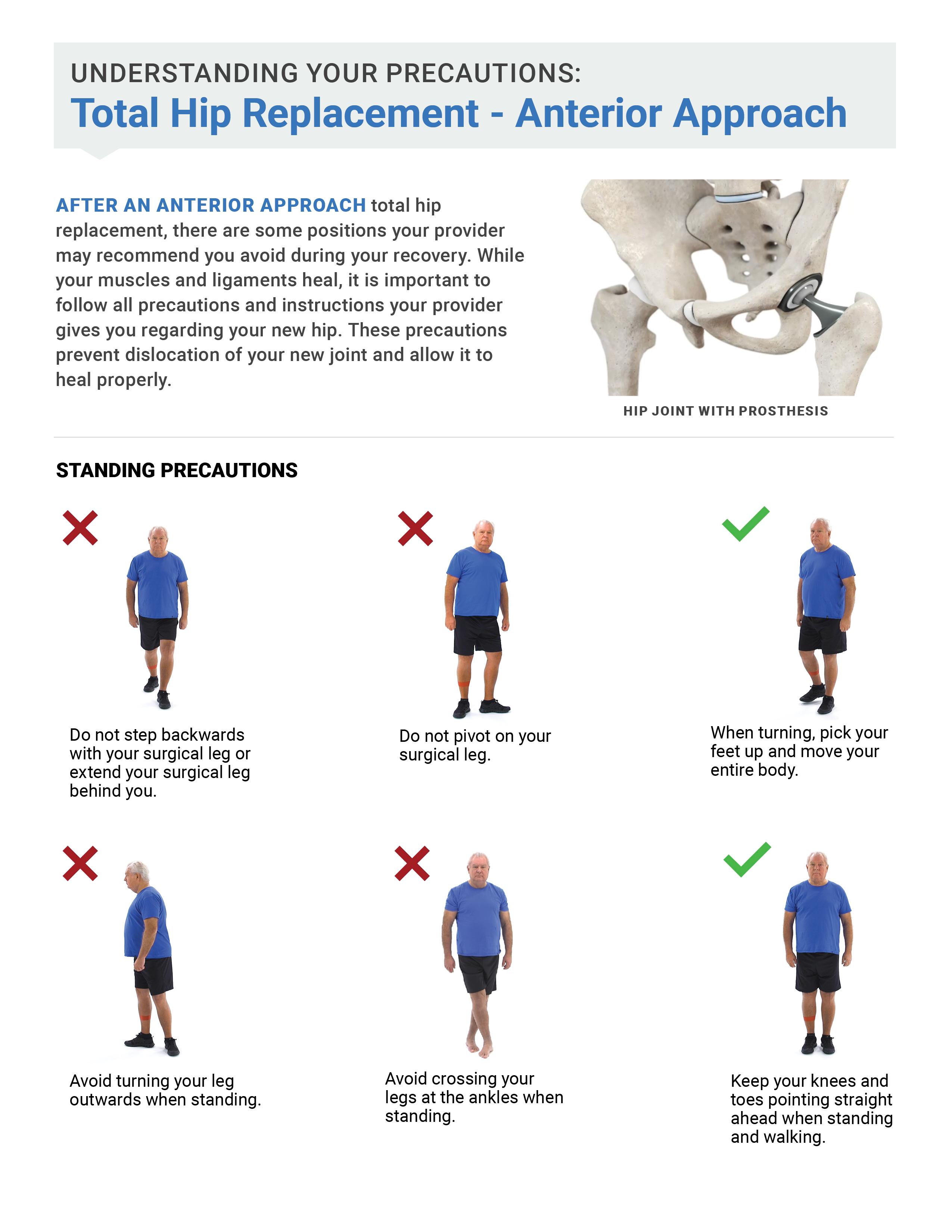 Anterior Hip Precautions Handout